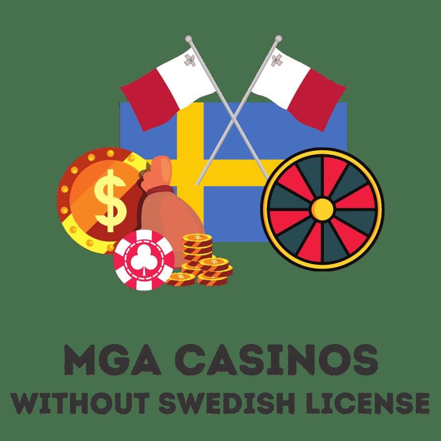 mga casinos without swedish license