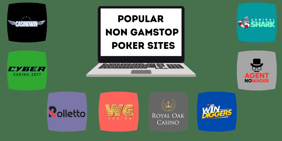 popular poker sites not on gamstop