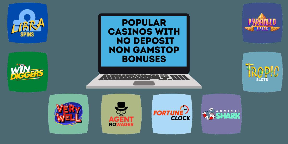 popular casinos with no deposit non gamstop bonuses