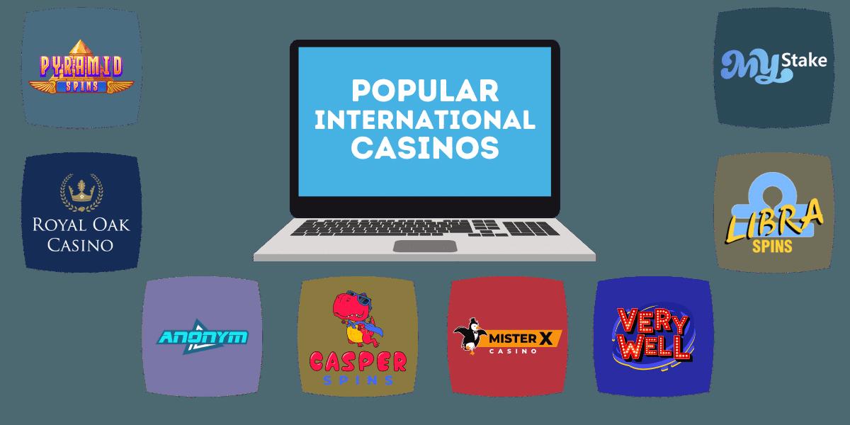 popular international online casinos